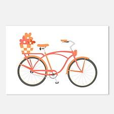 Pink Cruiser Bike Postcards (Package of 8)