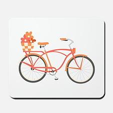 Pink Cruiser Bike Mousepad
