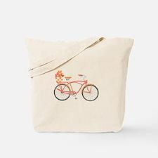 Pink Cruiser Bike Tote Bag