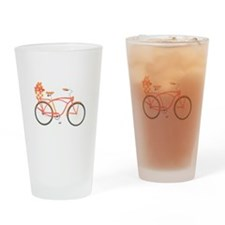 Pink Cruiser Bike Drinking Glass