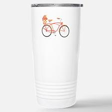Pink Cruiser Bike Travel Mug