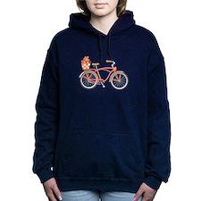 Pink Cruiser Bike Women's Hooded Sweatshirt