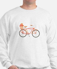 Pink Cruiser Bike Sweatshirt