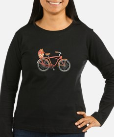 Pink Cruiser Bike Long Sleeve T-Shirt