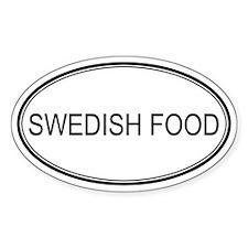 SWEDISH FOOD (oval) Oval Decal