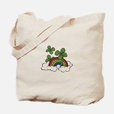 Rainbow Lucky Clover Tote Bag