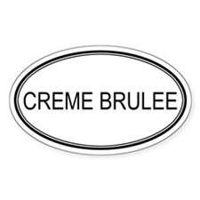 CREME BRULEE (oval) Oval Decal