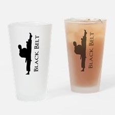 Black Belt Personalized Drinking Glass