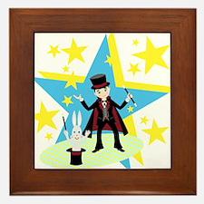 Cute Magician Framed Tile
