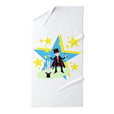 Cute Magic trick Beach Towel