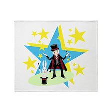Cute Magician Throw Blanket