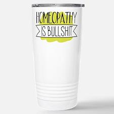 Homeopathy is Bullshit Travel Mug