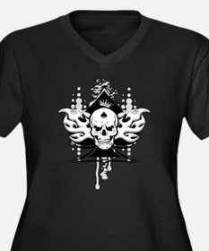 ace of spades skull Plus Size T-Shirt
