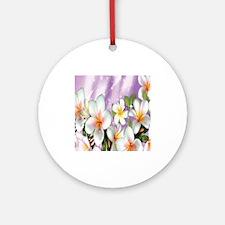 Plumeria Floral Ornament (Round)