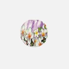 Plumeria Floral Mini Button