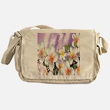 Plumeria Floral Messenger Bag