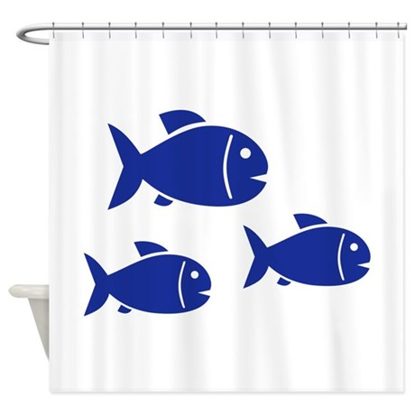 Blue Fish Shower Curtain By Mrteeshop