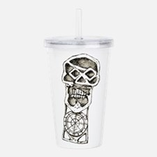 Unique Skull and bones Acrylic Double-wall Tumbler