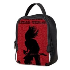 Cool Black and red Neoprene Lunch Bag