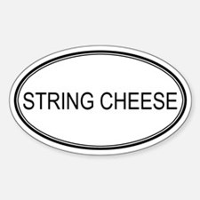 STRING CHEESE (oval) Oval Decal