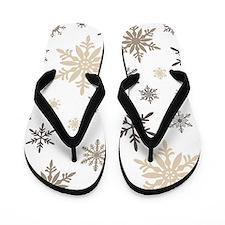 modern vintage snowflakes Flip Flops
