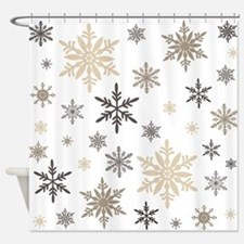 modern vintage snowflakes Shower Curtain