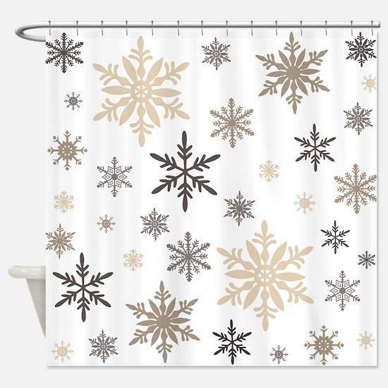 Christmas shower curtains cafepress