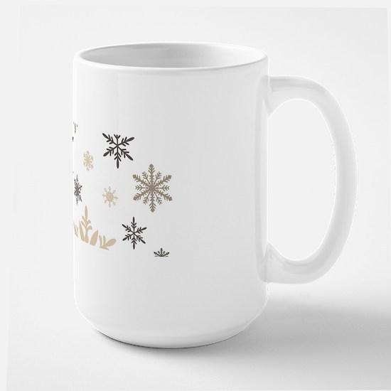 modern vintage snowflakes Mugs
