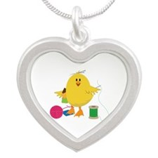 Sewing Chick Necklaces