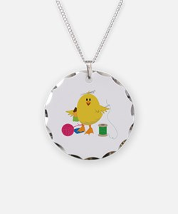 Sewing Chick Necklace