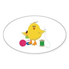 Sewing Chick Stickers