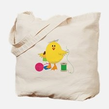 Sewing Chick Tote Bag