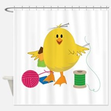 Sewing Chick Shower Curtain