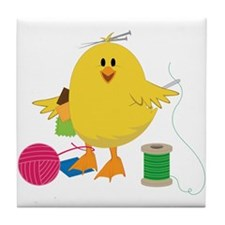 Sewing Chick Tile Coaster