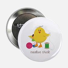 """Creative Chick 2.25"""" Button"""