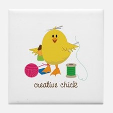 Creative Chick Tile Coaster