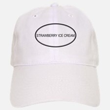 STRAWBERRY ICE CREAM (oval) Baseball Baseball Cap