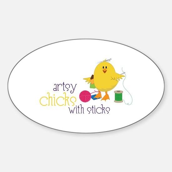 Artsy Chicks Decal