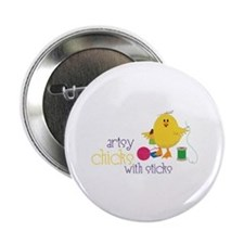 "Artsy Chicks 2.25"" Button"