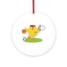 Sports Chick Ornament (Round)