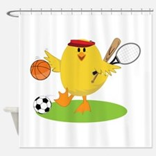 Sports Chick Shower Curtain