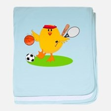 Sports Chick baby blanket