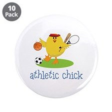 "Athletic Chick 3.5"" Button (10 pack)"