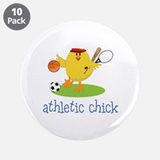"""Athletic Chick 3.5"""" Button (10 pack)"""
