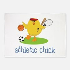 Athletic Chick 5'x7'Area Rug
