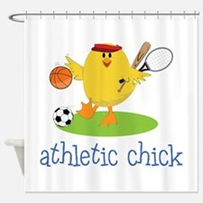 Athletic Chick Shower Curtain