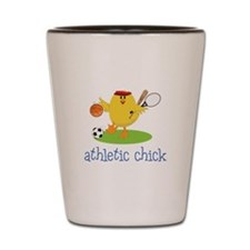 Athletic Chick Shot Glass