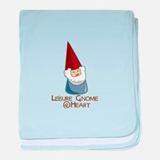 Leisure Gnome baby blanket