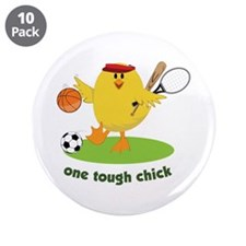 "One Tough Chick 3.5"" Button (10 pack)"