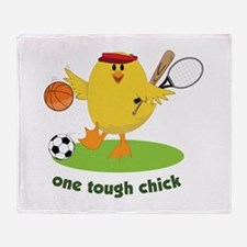 One Tough Chick Throw Blanket